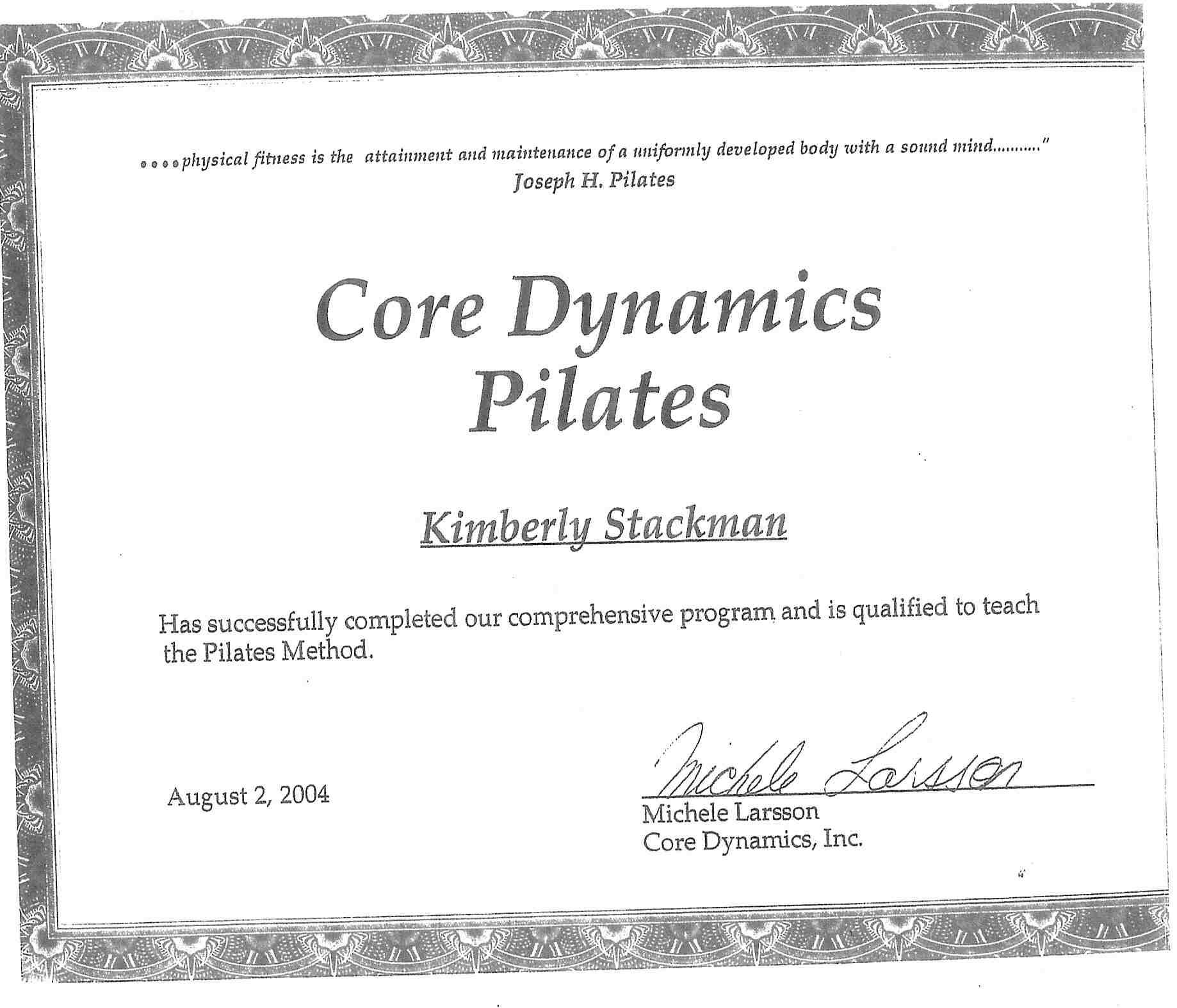 About Kim Stretch N Strength Pilates Web Site